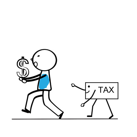 taxpayer: Abstract business concept with simple cartoon person Illustration