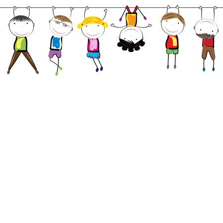 Gelukkig, gezond en kleurrijke meisjes en jongens Stockfoto - 39637937