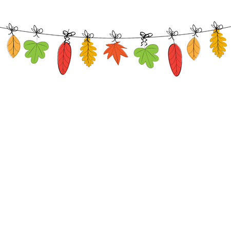 autumn leafs: Abstract and cute card with colorful autumn leafs Illustration
