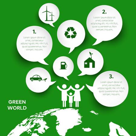 Ecology infographics, symbols, graphic vector elements