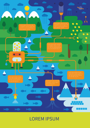 Clean and green world - abstarct ecological infographic