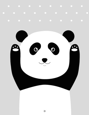 bruin: Sweet panda - kids poster.