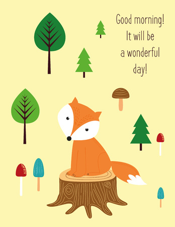 forest animals: Good morning, it will be wonderful day.