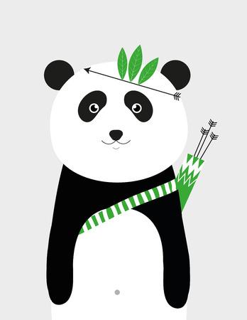 brave: Sweet brave panda - kids poster Illustration