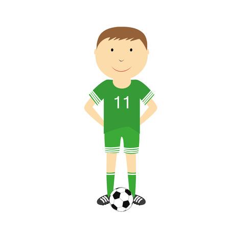 boys soccer: Happy boy is playing football Illustration
