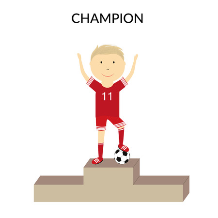 lag: Happy boy on the podium Illustration
