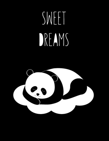 Sweet dreams - kids black and white poster
