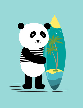 Try surfing along with the panda? Enjoy the summer!