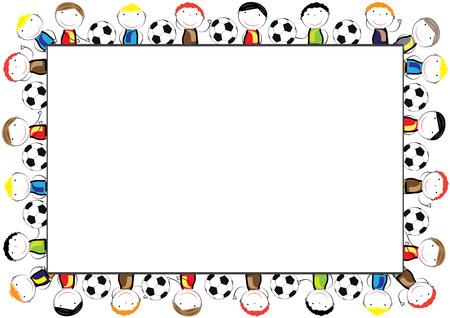 Farbige Rahmen Für Kinder Mit Glücklichen Jungen Und Mädchen ...