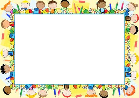 Marco de color para el año escolar Foto de archivo - 60451968