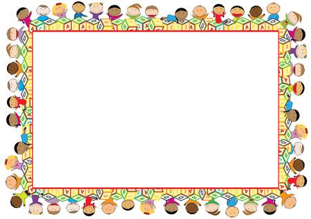 marcos decorativos: Marco de color para el año escolar