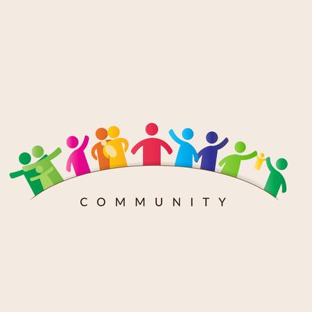 nozione comunitaria - pittogramma mostrando cifre famiglia felice