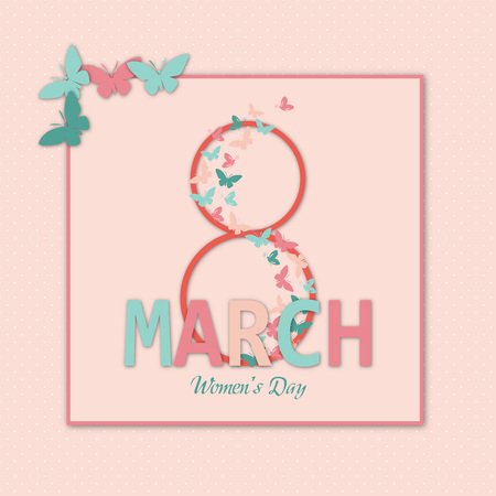 th: Lovely card for th ewomans Day Illustration
