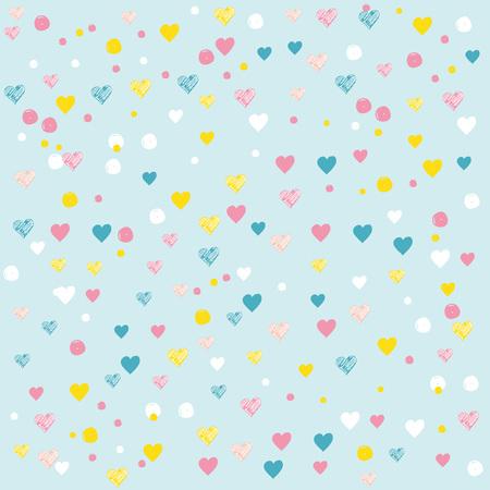 カラフル ハート パターン赤ちゃんとすべての子供たちに最適。  イラスト・ベクター素材