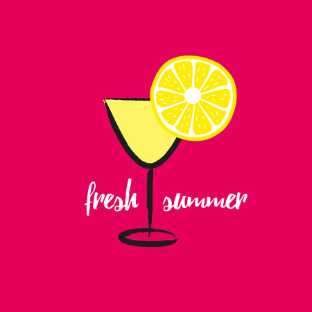palm: Summer fresh card, graphic and we design