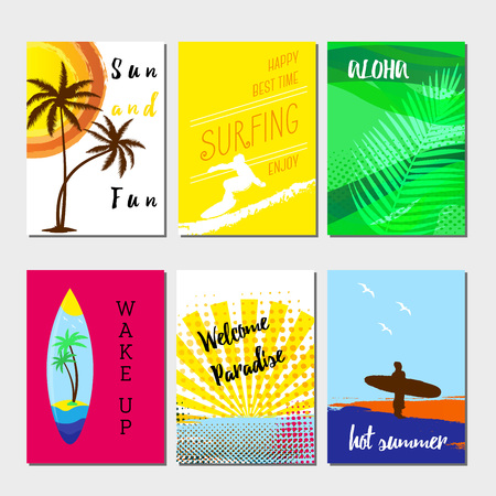 pattern: Summer cards and banners collection, graphic and we design Illustration