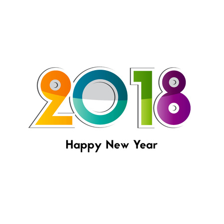 holiday party: Happy New Year 2018, background or element of a holidays card