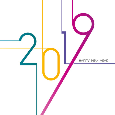 Happy New Year 2019, background or element of a holidays card