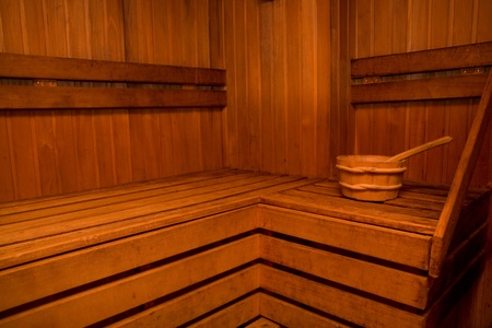Interior of a wooden sauna Stock Photo - 9188546