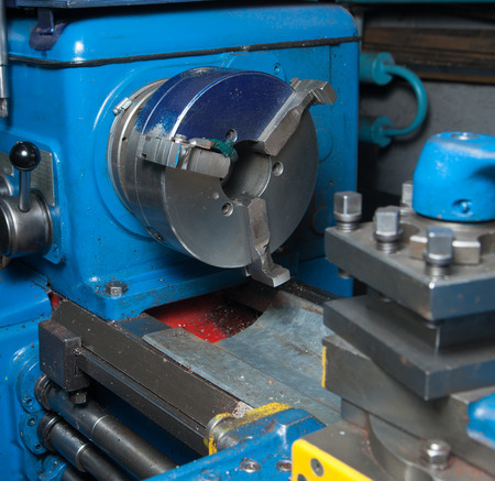 A close-up photo of a lathe