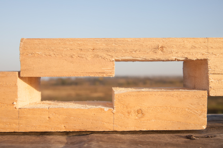 craft material: Joint at the end of wood timbes
