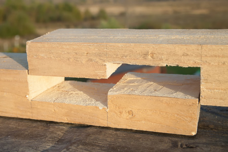 joist: Joint at the end of wood timbes