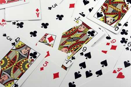 Playing Card Background Editorial