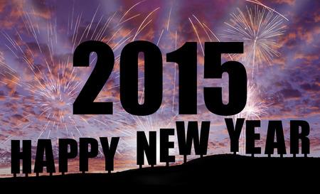 Celebration 2015 - Happy new year Imagens
