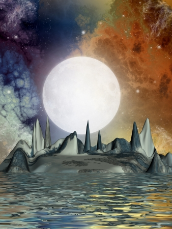 science fiction landscape with strange ground formation Stock Photo - 13932154