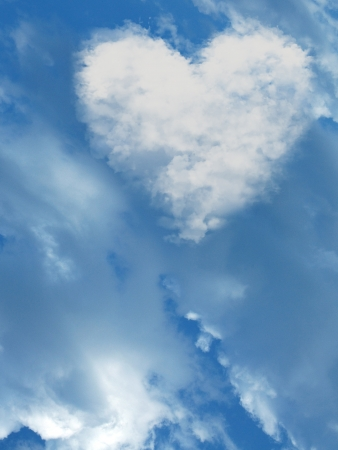 heart in the sky with big clouds  Stock Photo - 14548207