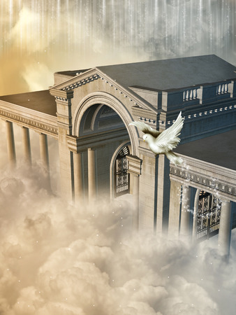 manipulate: Fantasy Landscape in the heaven with big structure