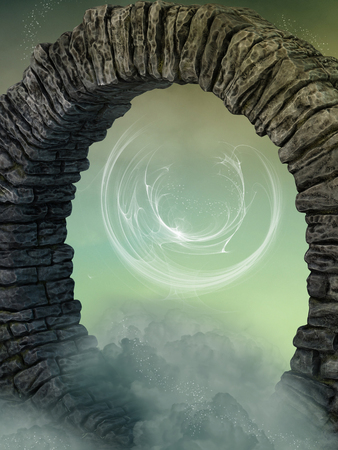 enchantment: magical door in the sky with enchantment