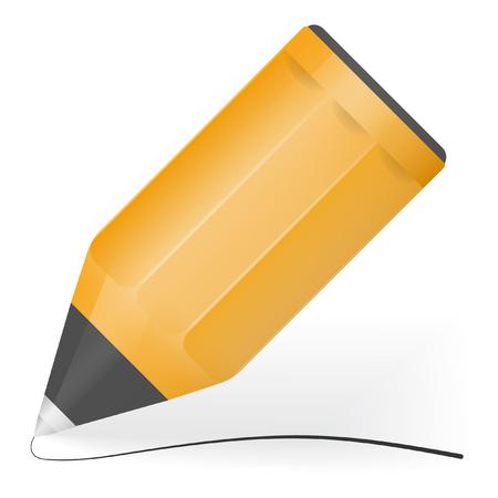 ball pens stationery: Vector pequeña bola negro línea de dibujo de la pluma Vectores