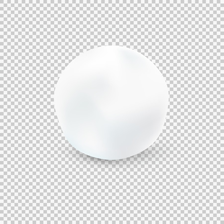 Palla di neve isolato su sfondo trasparente. Illustrazione vettoriale Vettoriali