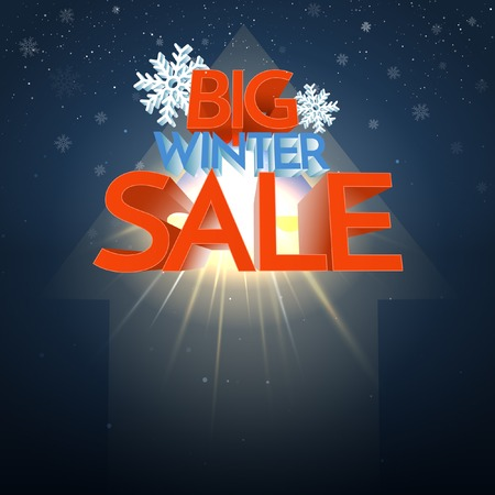 Big Winter Sale Explosion With Snowflake. Vector Illustration
