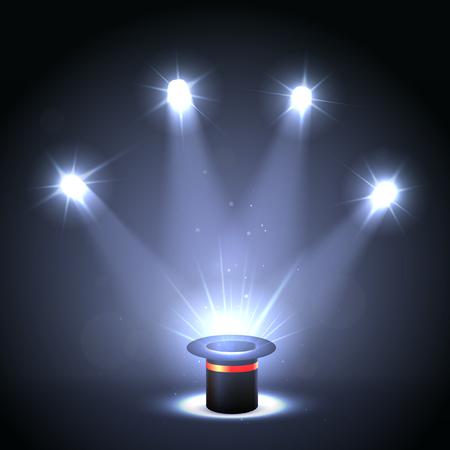 Background Illumination Scene Magic Illusion Hat. Magician Illustration