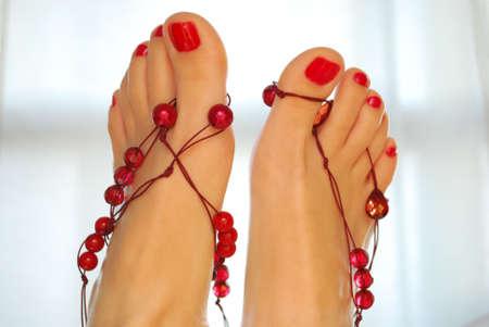 Decorated voeten omhoog