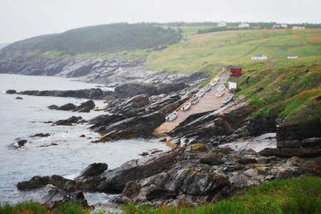 pouch: Pouch Cove, Newfoundland Stock Photo