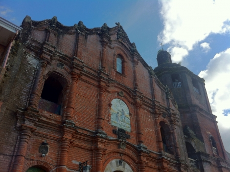 spaniards: Liliw Church in Liliw Laguna built during the Spaniards reign in the Philippines. Stock Photo