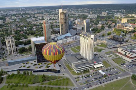 vilnius: Aerial View of Vilnius Old Town Editorial