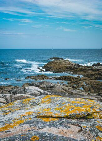Shore of Muxia facing North Atlantic Ocean. Captured while hiking St. James way.