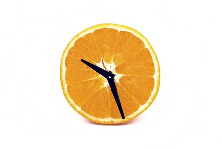 analogous: A mature orange, analogous one symbolize a clock.