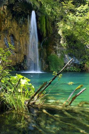Waterfall in the Plitvice National Park UNESCO World Heritage, Croatia Stock Photo - 5307988