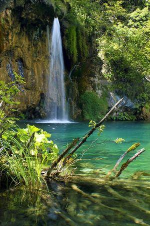 Waterfall in the Plitvice National Park UNESCO World Heritage, Croatia Stock Photo - 5307988