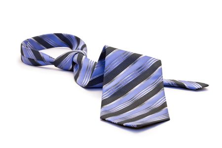 neck tie: Blue tie, white background isolated.
