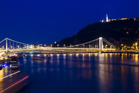 Beautiful Budapest, reflected in a river. photo