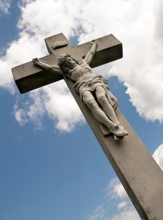 cruz de jesus: Jes�s en la Cruz tenso.