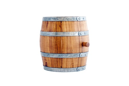 Barrel of a white background isolated. Stock Photo - 8237755