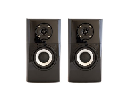 A pair of speakers on a white background isolated. photo
