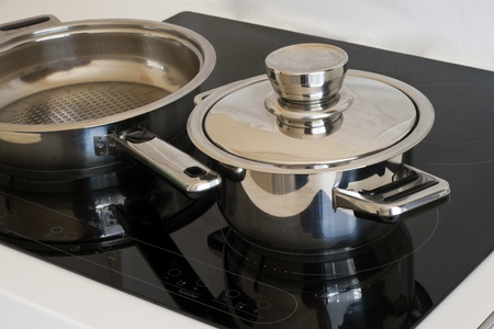 induction: Modern dishes, induction cooker.